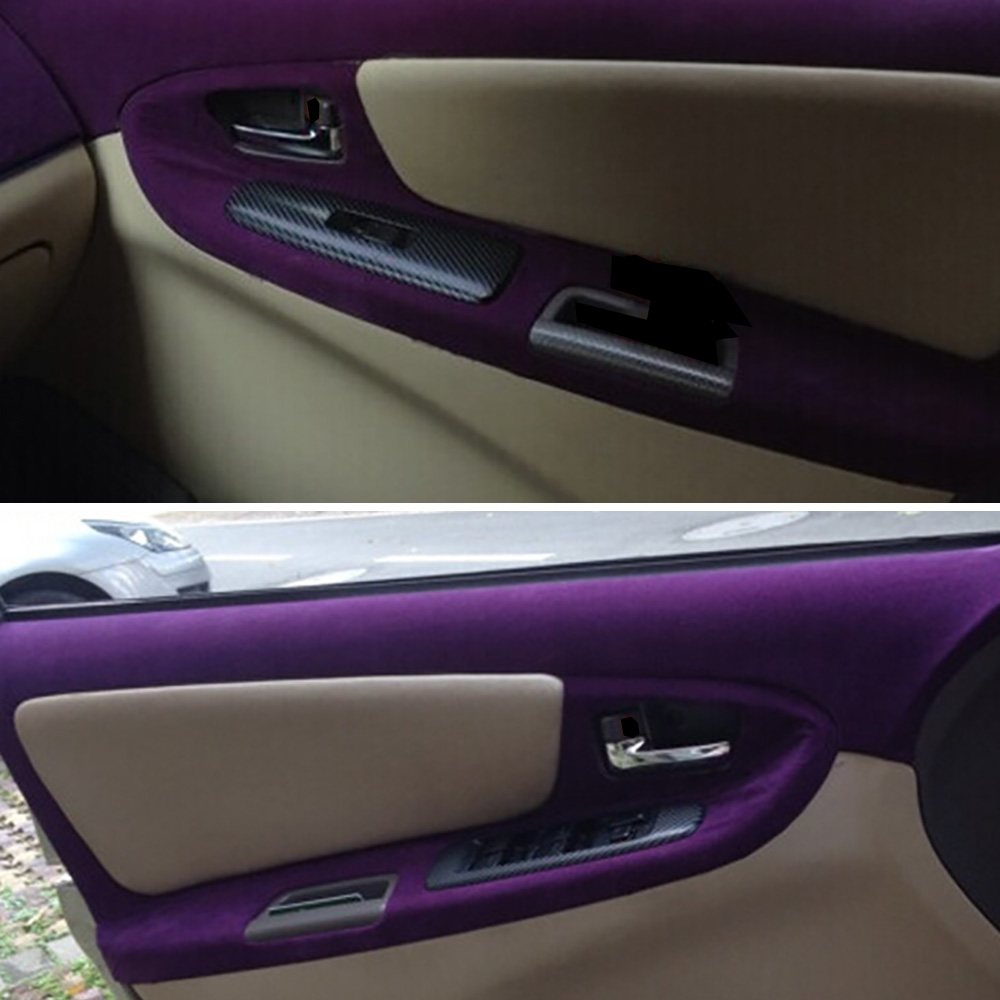 Image 4 - 50x200cm Velvet Fabric Suede Film Car Color Change Wrap Sticker Auto Interior Outside Decoration Adhesive Decal Car Accessories-in Car Stickers from Automobiles & Motorcycles