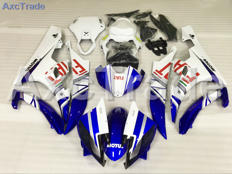 Motorcycle Fairings Kits For Yamaha YZF600 YZF 600 R6 YZF-R6 2006 2007 06 07 ABS Injection Fairing Bodywork Kit Blue White A884 motorcycle fairing kit for kawasaki ninja zx10r 2006 2007 zx10r 06 07 zx 10r 06 07 west white black fairings set 7 gifts kd01