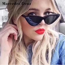 Здесь можно купить  17 Colors Cute Eexy Retro Cat Eye Sunglasses Women Small Black White 2018 Triangle Vintage Cheap Sun Glasses red female uv400  Apparel Accessories