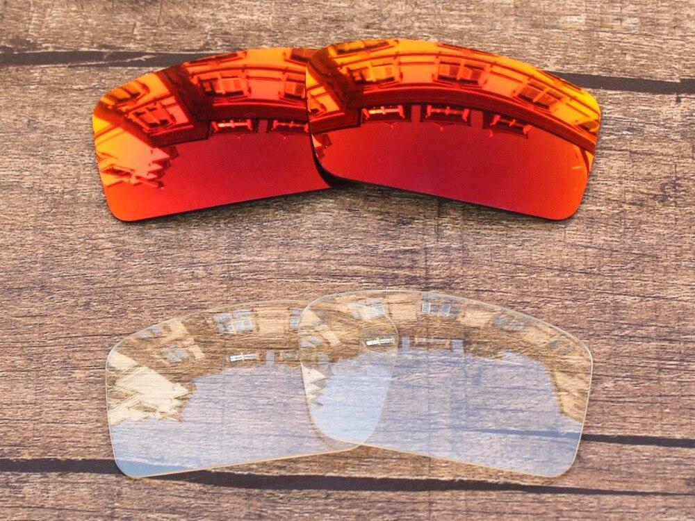 Fuego rojo y cristal claro 2 reemplazo Objetivos para GASCAN ...
