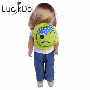 Рюкзак LUCKDOLL для лица, 18 дюймов, американская кукла 43 см, аксессуары для детской одежды, игрушки для девочек, поколение, подарок на день рожден...