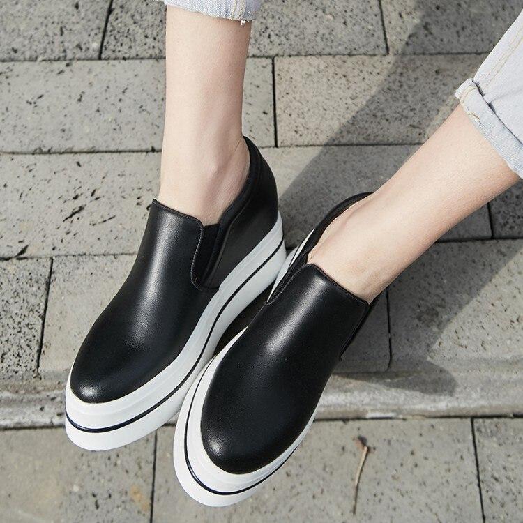 Zapatillas Altura Aumento Las Beige Zapatos Deporte Nueva Casual Cuñas negro Señoras Mujer Bombas De 2018 Tacón {zorssar} Alto Plataforma 71WvTPPZ