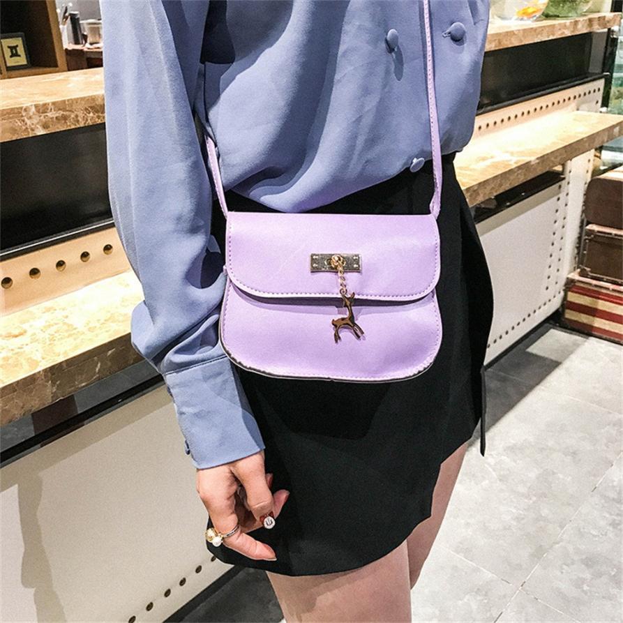 Women's bags luxury handbags women bags designer PU Leather Solid Hasp Crossbody Bag small Deer Shoulder Messenger Bag