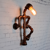 personality robot wall lamp industry wind pipe loft light restaurant pub bedroom aisle bar corridor study cafe light lw58428py