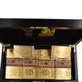 1000 шт Золотая банкнота Zimbabwe деревянная коробка для дома декоративные сто триллионов долларов 24k позолоченные подарки для денег