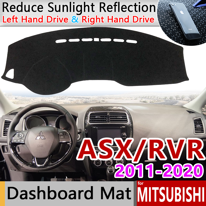 for Mitsubishi ASX 2011 2020 RVR Anti-Slip Mat Dashboard Cover Pad Sunshade Dashmat Accessories 2013 2015 2016 2017 2018 2019