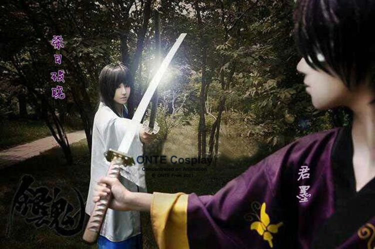 2016 New Cosplay Costumes Takasugi Shinsuke Kimono Anime Gintama Bathrobe Customized Cos Clothes Coat Dropshipping