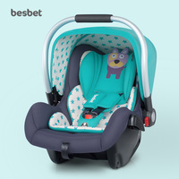 Besbet Baby Safety Seat Car with Newborn Car Cradle Portable Sleeping Basket Infant Car Seat 0~18month