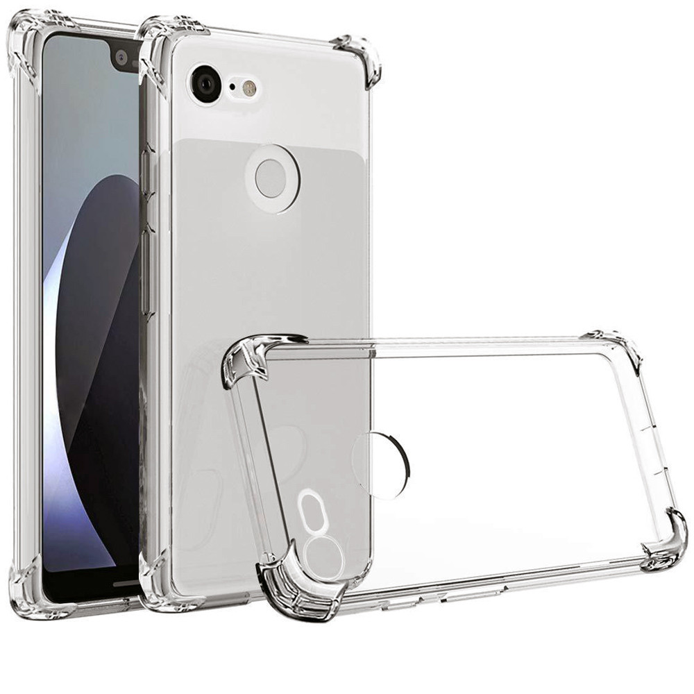 Phone Case Coque For Google Shock Absorption Clear TPU Four Corners Drop Case Cover For Google Pixel 3/ 3 XL 5.5/6.3 Inch