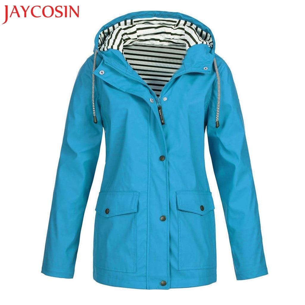 most desirable fashion Clearance sale best supplier US $14.11 40% OFF JAYCOSIN Women Solid Rain Jacket Outdoor Plus Waterproof  Hooded Raincoat Windproof Sport Outwear Four Seasons Dropship Dec.22-in ...