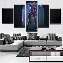 HD Printed Modular Canvas Paintings For Living Room Wall Art 5 Pieces Overwatch  Widowmaker Pictures Home Decor Game Posters