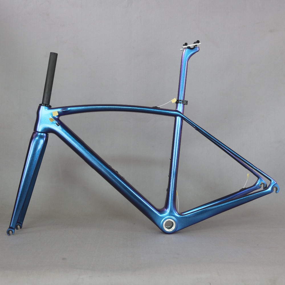 New EPS Technology Chameleon Paint Road Bike Frame High Modulus Toray T1000 Carbon Fiber Frame FM208
