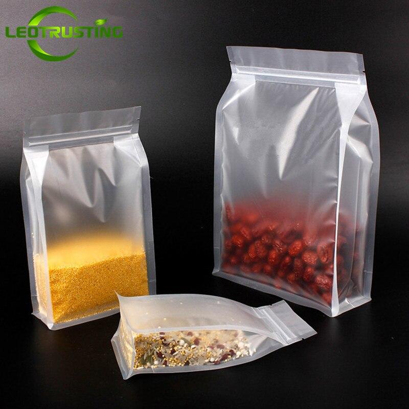 Leotrusting 50pcs 3D Stand up Matt Plastic Ziplock Bag