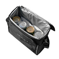 8L Black Drink Cooler Bags Portable Travel Picnic Lunch Food Thermal Insulation Handbag BBQ Fresh Case