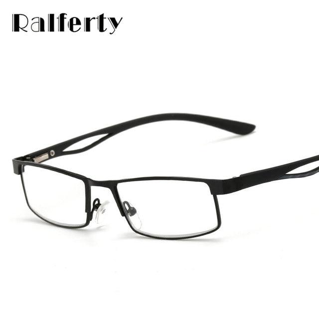 e84b8b5251 Ralferty Small Square Frame Hyperopia Eyeglasses Prescription Reading  Glasses Men Women Business Far Sight Eyewear oculo de grau