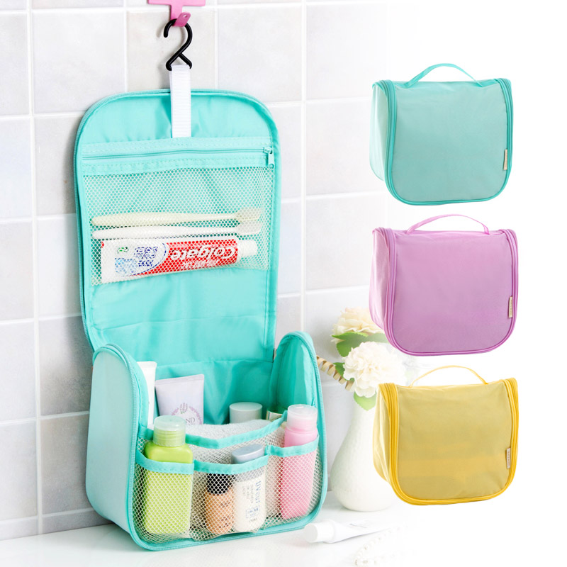 Travel portable folding thick waterproof toiletry kits  portable travel cosmetic bag admission package. Bathroom Travel Kit Promotion Shop for Promotional Bathroom Travel