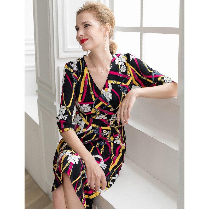 ca5100fe9a À V Sukienki Mi Shein Cou Robe Vadim Imprimer Moulante Lignes Parti D'été  Dames longues Omighty Femmes Multi Sexy Pixy Robes tBwqCdw