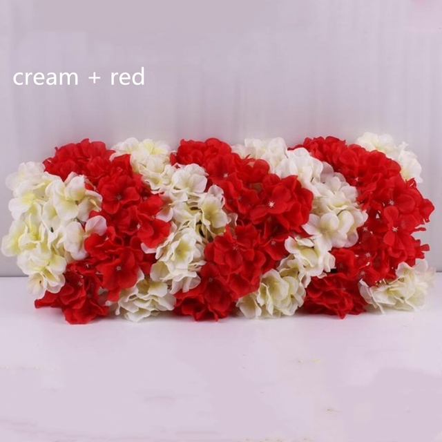 Wedding Flower Wall Stage Or Backdrop Decorative Wholesale Artificial  Flower Table Centerpiece 11 Color 10pcs/