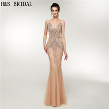 H S Bridal 2018 Fall luxury beading prom dresses