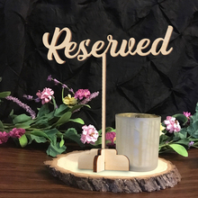 Reserved Sign. Reserved Wedding Sign. Freestanding Reserved Table Sign. Wood Reserved Table Sign. Wedding decor table 7 in. tall цена