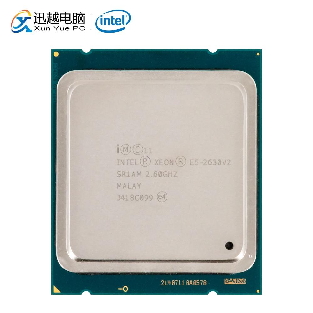 Intel xeon E5-2630 v2 processador de mesa 2630 v2 seis núcleos 2.6 ghz 15 mb l3 cache lga 2011 servidor usado cpu