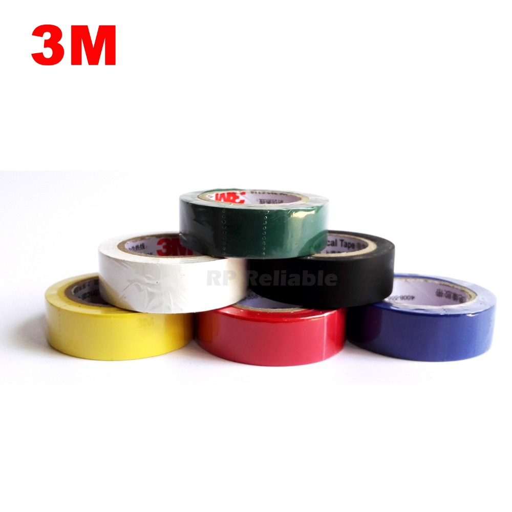 1 Roll (18mm *10 meters*0.13mm) 3M Insulation Vinyl Electrical Tape Fireproof for  Wire Cable Mark Isolate, Leaded Free panda electrical wire cable bvr flexiblecords 0 75 100 meters