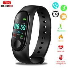 цена на 2019 LIGE New M3 Smart Bracelet fitness tracker heart rate blood pressure sports watch smart Wristband men women For IOS Android
