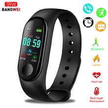 2019 LIGE New M3 Smart Bracelet fitness tracker heart rate blood pressure sports watch smart Wristband men women For IOS Android(China)