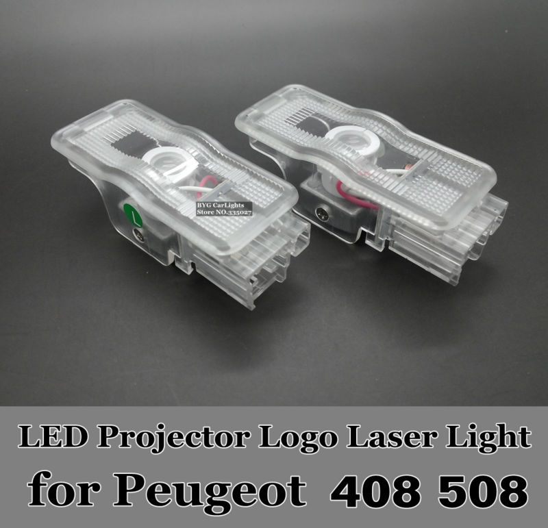 car LED projector logo door Ghost shadow light Peugeot 408 508 RCZ 1007 206 207 306 307 406 407 5008 607 806 807 Expert3 - BBW Car Lights store