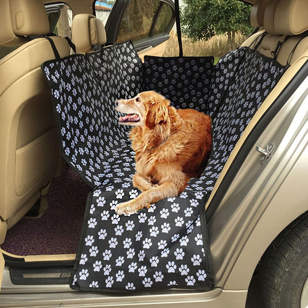Car Pet Seat Covers Pvc Waterproof Coating Footprint Back Bench Collapsible Oxford Fabric Back