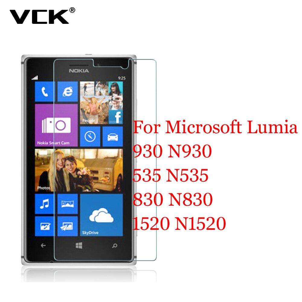 VCK For Microsoft Lumia 930 N930 1520 N1520 535 N535 830 N830 2 5D 9H Glass