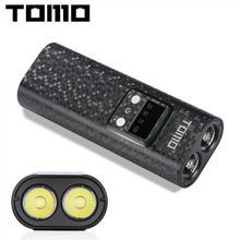 Usb li ion carregador de bateria portátil lcd smart mobile power bank caso com lanterna suporte 2x18650 baterias para smartphone