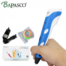 2017 3D Pens Original BAPASCO First Gen 3D Pen Kids Best Souptoy birthday Gift Magic 3D Doodle With Free Filaments Free Shipping