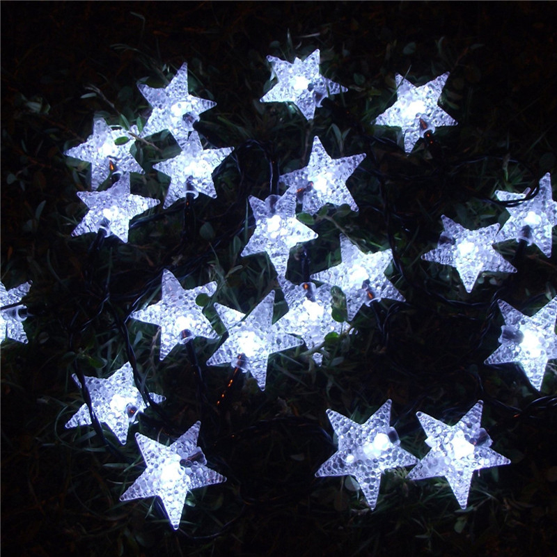 Multicolor 4 8m 20 Led Solar Ed Pearl Star String Lights For Christmas Party Fairy Festival Outdoor Decoration In From Lighting On