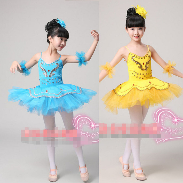 fd2664ab2 Children's Swan dance Costumes dress Kids Ballet Dancing Outfits Stage wear  Professional Ballet Tutu dancewear Dress For Girls