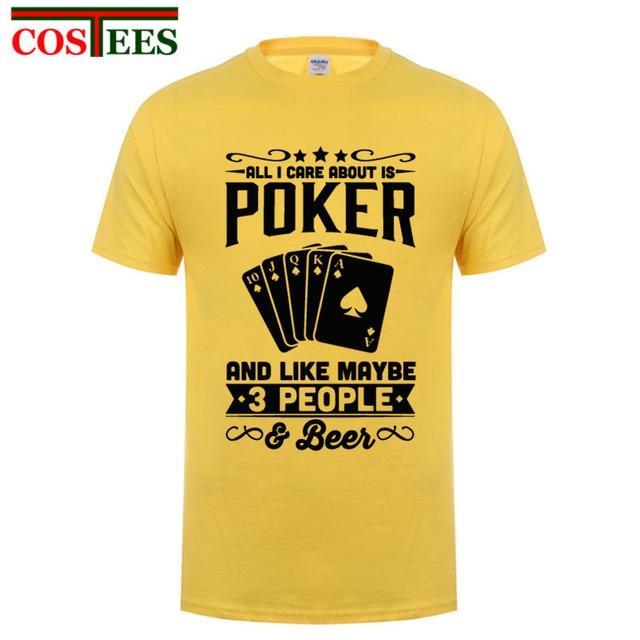 Nova Marca Homens T Shirt Legal Camiseta de Poker Moderno Hip Hop Homens de  Manga curta 51c8630616884