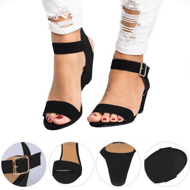 Women Sandals Open Toe Summer Shoes High Heels Sandals Female Plus Size 43 Thin Heel Shoes Woman 2019 Sandals Mujer 3