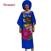 Traditional Women African Splice Pearls Tops and Skirt Sets with Headwrap Clothing Bazin Riche Dresses for WY2604