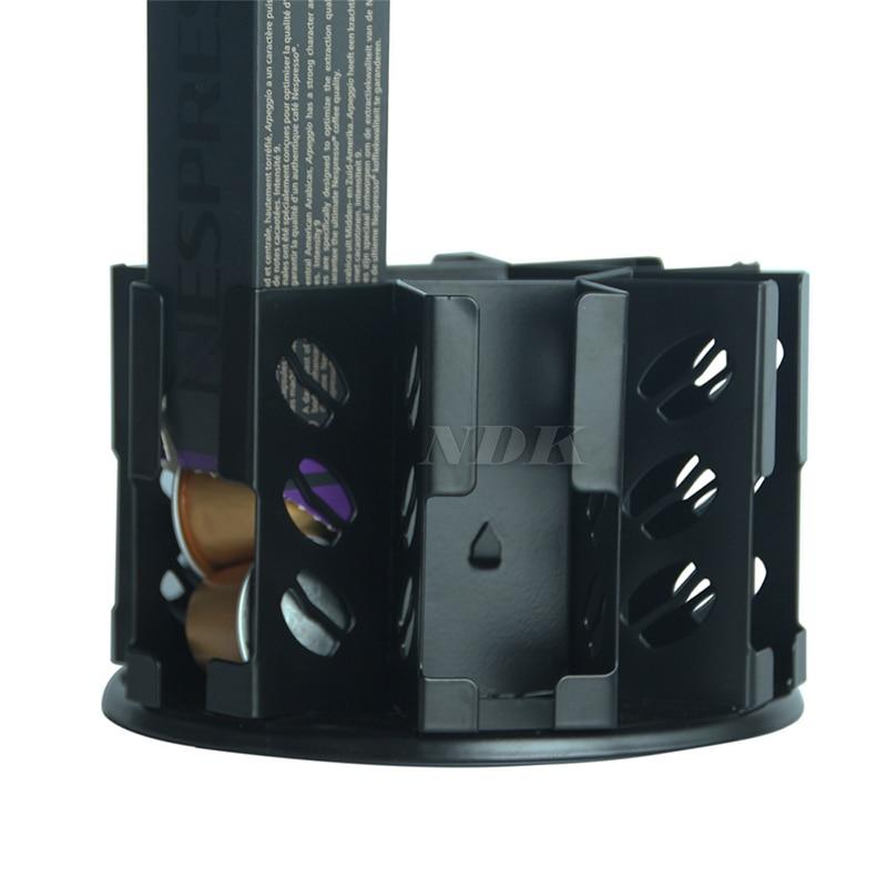 Coffee Pod Capsule Holder Storage Drawer Kitchen Organizer for Stores Nespresso Pods Capsules Black Color Cast Iron