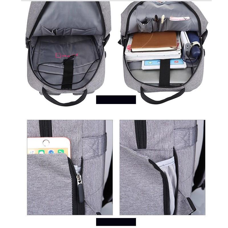 LIANGKA USB chargeur de téléphone sacs à dos pour Xiaomi ordinateur portable hommes femmes décontracté voyage Camping sac à dos cartable Mochila - 3