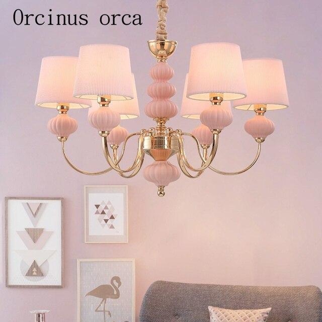 French garden ceramic chandelier bedroom living room restaurant ...