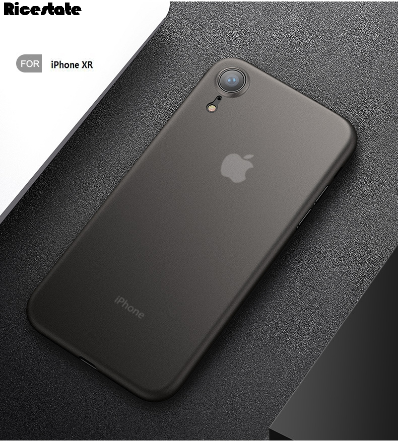 0.3mm Ultra thin Matte phone case For iphone iphone XR X R 6.1″inch Rubber back cover For iphone XR Case
