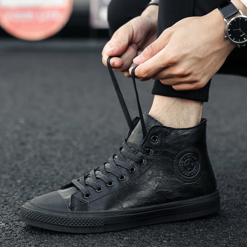 tênis casuais à prova dwaterproof água rendas até sapatos de cor sólida