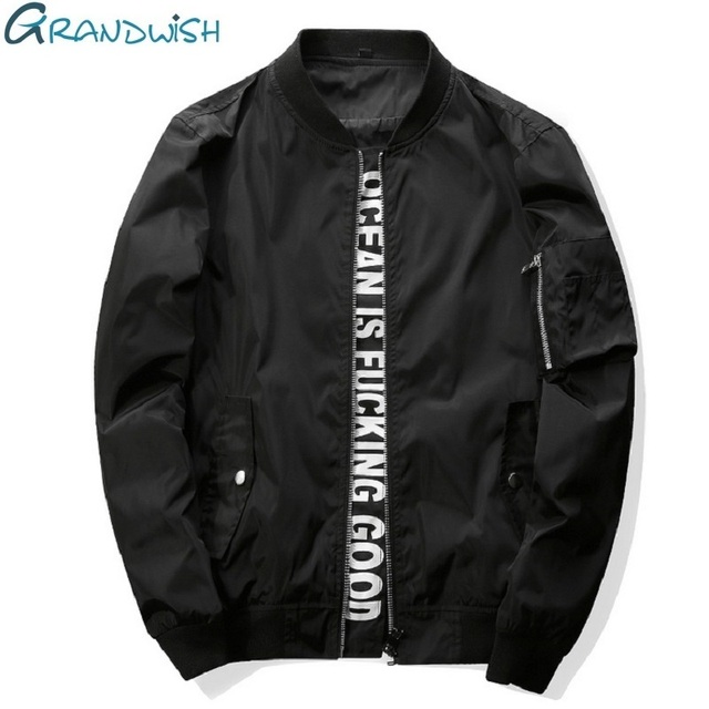 Aliexpress.com : Buy Grandwish Mens Bomber Jacket 4XL Letter ...