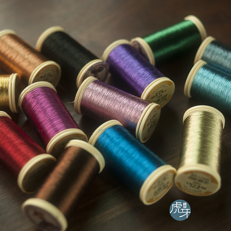 2018 Time-limited Rushed French Embroidery Beaded Material Metal Embroider Line Sajou Au Chinois 19 Color Metallic Thread