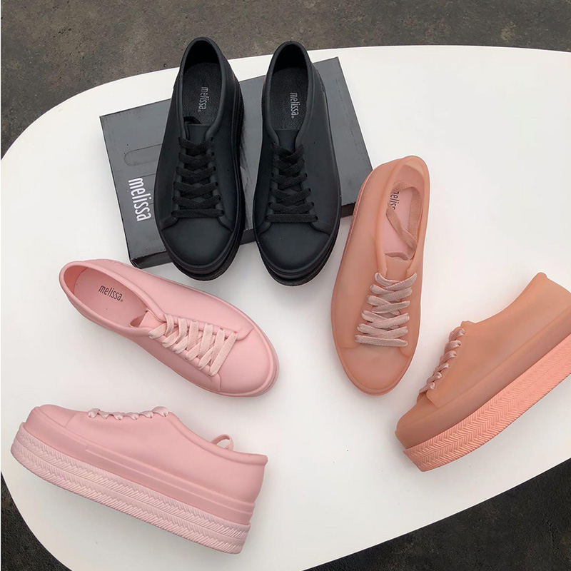 2019 Woman Melissa Jelly Shoes High Heels Soft Sandals Lace Casual Shoes Womens shoes Non-Slip Melissa Shoes2019 Woman Melissa Jelly Shoes High Heels Soft Sandals Lace Casual Shoes Womens shoes Non-Slip Melissa Shoes