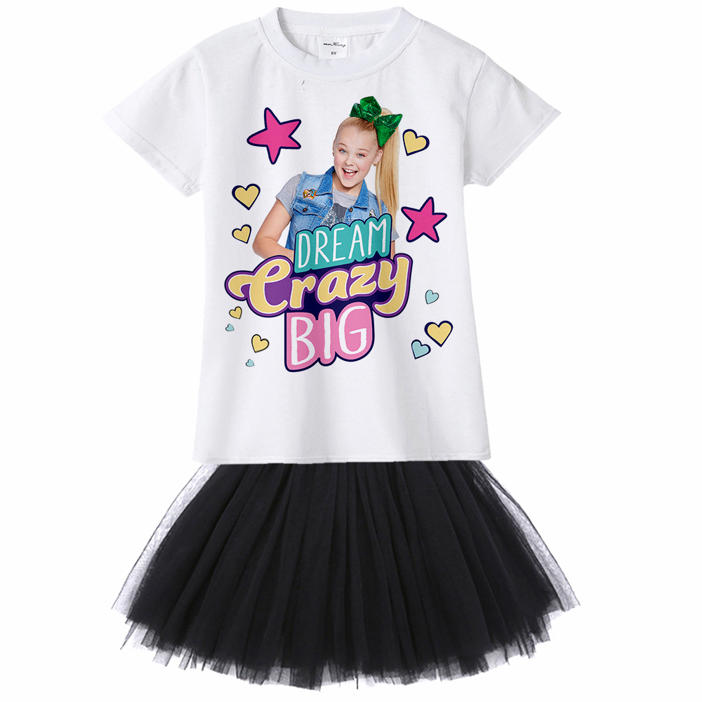 Detail Feedback Questions about 2018 Summer Jojo Siwa Short Sleeve tutu  mini Dresses for Girls Princess Birthday Party Dress Kawai Costumes Toddler  Clothing ... 5fdce405cc2c
