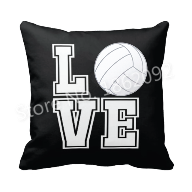 Neuheit geschenke volleyball kissen abdeckung liebe volleyball kissen fall k hle volleyball - Volleyball geschenke ...