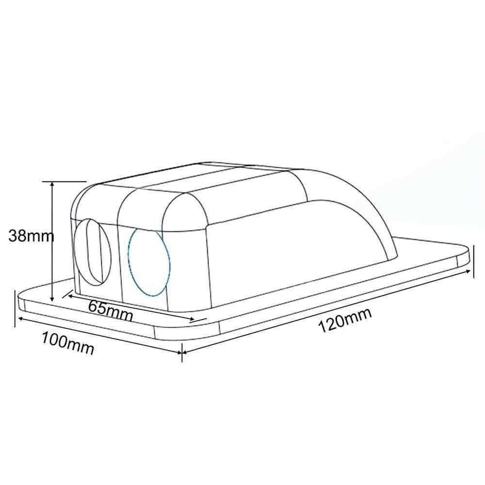 Wodoszczelny dach przewód panelu słonecznego wejścia gruczołu podwójne dławik kablowy pudełko typu Twin wejście kabla gruczołu do przyczepy kempingowej łodzi