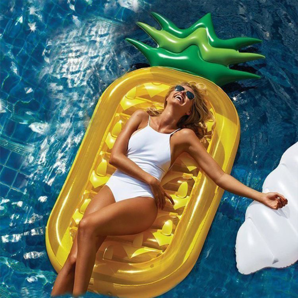 Inflatable Pineapple Floating Air Mattresses Inflat Swimming Pool Toy Float Raft For Diving Swim For Adult Pool Party Toys